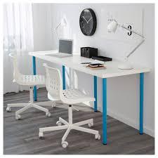 Long Computer Desks by Linnmon Adils Table Black Brown Black Ikea