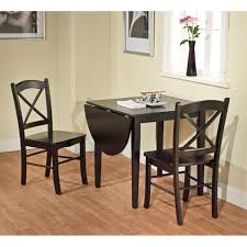 Cottage Dining Room Sets by Amazon Com Tiffany 3 Piece Dining Set Finish Black Table