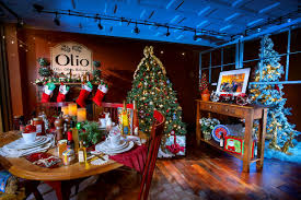 a splash of christmas olio u0027s window display is best in show