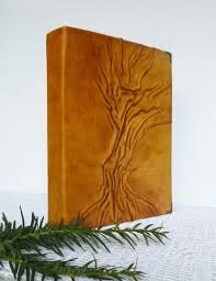Small Photo Album 4x6 Photo Album 4x6 Leather Album Tree Painting Handmade By Annakisart