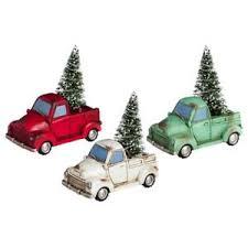 garden miniature truck with light up tree choose