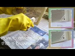 how to clean yellowed white doors how to restore plastic that is yellowing browning using hair hydrogen peroxide