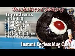 instant egg less mug cake