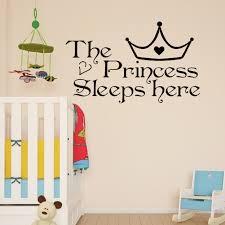 Princess Wall Decals For Nursery by Aliexpress Com Buy Home Wall Art Princess Sleeps Here Wall