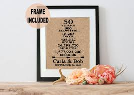 gifts for 50th wedding anniversary 50th wedding anniversary gift 50th anniversary gift 50 years