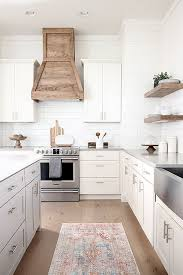 modern farmhouse kitchen with white cabinets our white modern farmhouse kitchen with custom wood and
