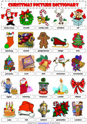 worksheets christmas primaria pdf elements of christmas vocabulary