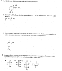 identify each chiral carbon atom in the following chegg com
