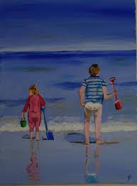 peinture de bord de mer une touche de couleur
