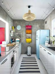 small vintage kitchen ideas white retro kitchen ideas with colorful accents for small space