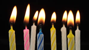 birthday candle burning birthday candles royalty free stock 2993941