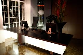 Illuminated Reception Desk Astronaut Kawada Architecture Illuminated Perspex Reception Desk