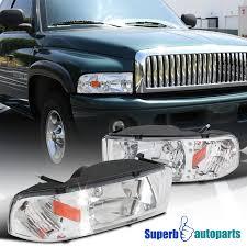 2001 dodge ram headlights 1994 2001 dodge ram 1500 2500 3500 led crystsl headlights clear ebay