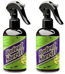 2 pack rodent sheriff natural spray pest control get rid rats and