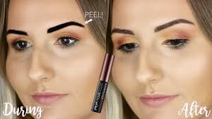 maybelline peel off tattoo brow review does it work youtube