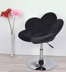 Armchair Upholstered Black Dressing Table Chair Stool Adjustable Height Club Armchair