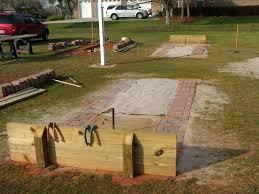 garden u0026 outdoor backyard bocce court how to make a horseshoe