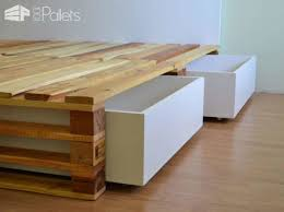 How To Make A Platform Bed Out Of Pallets - homemade bed frame pallets frame decorations