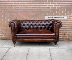 Chesterfield Sofa Antique Antique 19thc Leather Chesterfield Sofa Drop Arm Hand Full