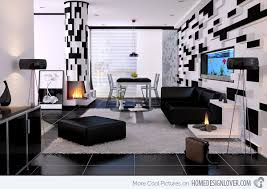Black White Living Room Living Rooms Black And White Retro Living - Black and white living room decor