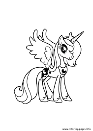 a princess luna my little pony coloring pages printable