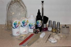 acrylic nail products gold kit