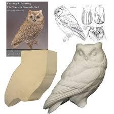 owl wood carving kit barn owl 1 2 lifesize