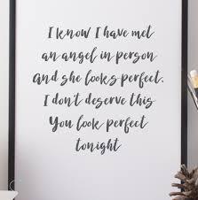 ed sheeran perfect text perfect print loveli