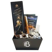 scotch gift basket the jr executive scotch and cigar gift basket the brobasket