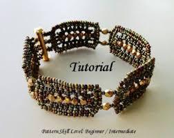 zigzag beaded bracelet beading tutorial beadweaving pattern seed