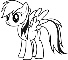 my little pony coloring pages pony mlp and rainbow dash