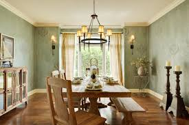 Natural Wood Dining Room Table by Chic Minimalist Dining Room Design Interior Concept Ideas Using