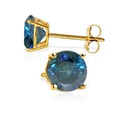 blue diamond stud earrings 14k stud earrings with 1 0 ct blue diamonds