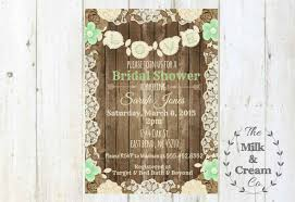 shabby chic rustic mint green bridal shower invite invitation