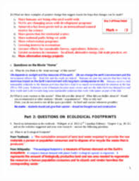 envs 1000 w2013 assignment 1 marking scheme 1 envs 1000