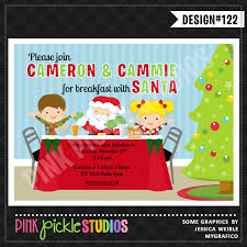 christmas brunch invitation wording breakfast with santa party invitation