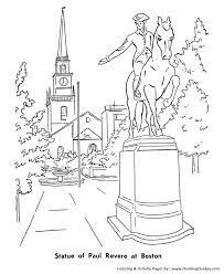 memorial coloring pages memorial day coloring pages statue of paul revere coloring pages