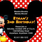 mickey mouse birthday invitations mickey mouse birthday