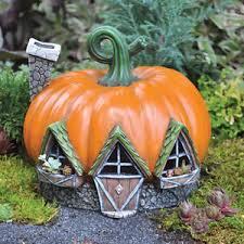 led pumpkin tea lights fiddlehead fairy garden pumpkin house w led tea light candle nib