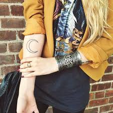 the 25 best half moon tattoo ideas on pinterest moon tattoos