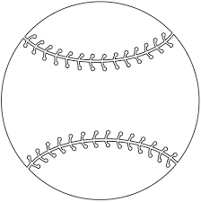 baseball ball coloring page sports free printable baseball