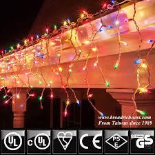 icicle light 100l multi color incandescent mini string light
