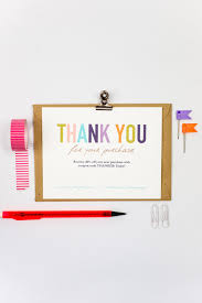 Instant Business Card Printing Love This Printable Thank You Card To Send With Purchase From Etsy