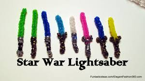 star war lightsaber charm how to rainbow loom action figures