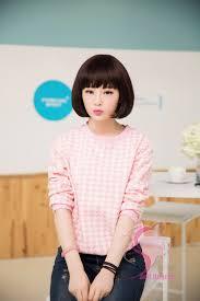 korean short hairstyles with bangs see through bangs trend kpop