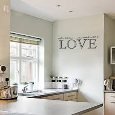 kitchen decorating flower wall stickers pantry decal love wall