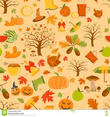 autumn seamless pattern and thanksgiving day stock