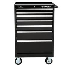 husky 5 drawer side cabinet husky 27 in w 7 drawer tool cabinet h7tr3 at the home depot