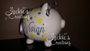 customized piggy bank baby personalized piggy bank custom piggy bank baby shower gift
