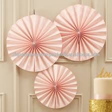 hanging paper fans pastel pink fan party decorations backdrop hanging paper fans